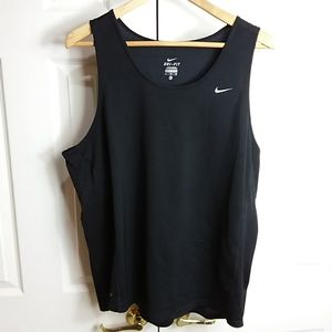 Nike Dri-Fit Black Tank Top Sz XL